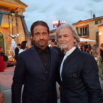 GERARD BUTLER AND DR. HERMANN BÜHLBECKER REJOICED OVER THEIR REUNION. THE ACTOR AND THE LAMBERTZ SOLE PROPRIETOR ALREADY KNOW EACH OTHER FROM MANY CHARITABLE EVENTS.